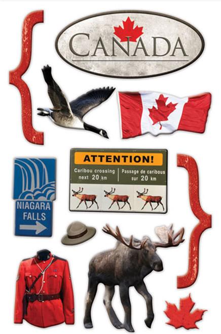 Paper House 3D Sticker: Canada