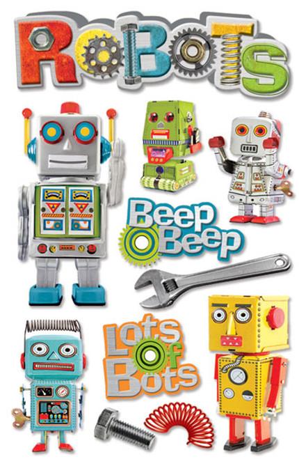 Paper House 3D Sticker: Robots