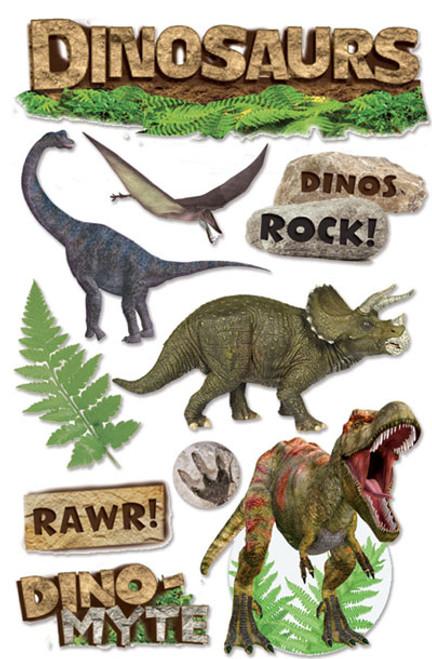 Paper House 3D Sticker: Dinosaurs