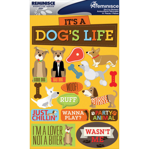 Reminisce Signature Series Dimensional Sticker: Dog