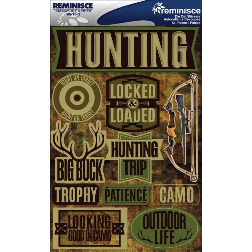 Reminisce Signature Series Dimensional Sticker: Hunting