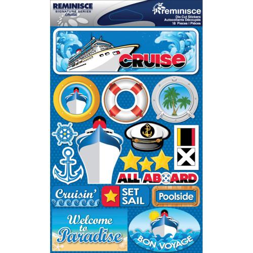 Reminisce Signature Series Dimensional Sticker: Cruise