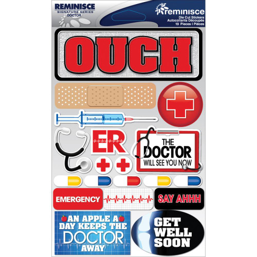 Reminisce Signature Series Dimensional Sticker: Doctor