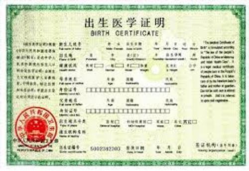 出生证明翻译 Birth Certificate
