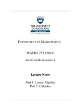 MATHS 253 Course Book - Advancing Mathematics 3