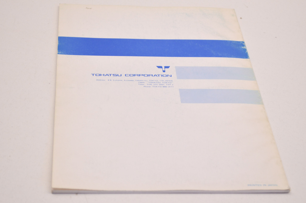 Tohatsu Outboard Motor Shop Manual M5A2, M3.5A Manual248-10 NOS