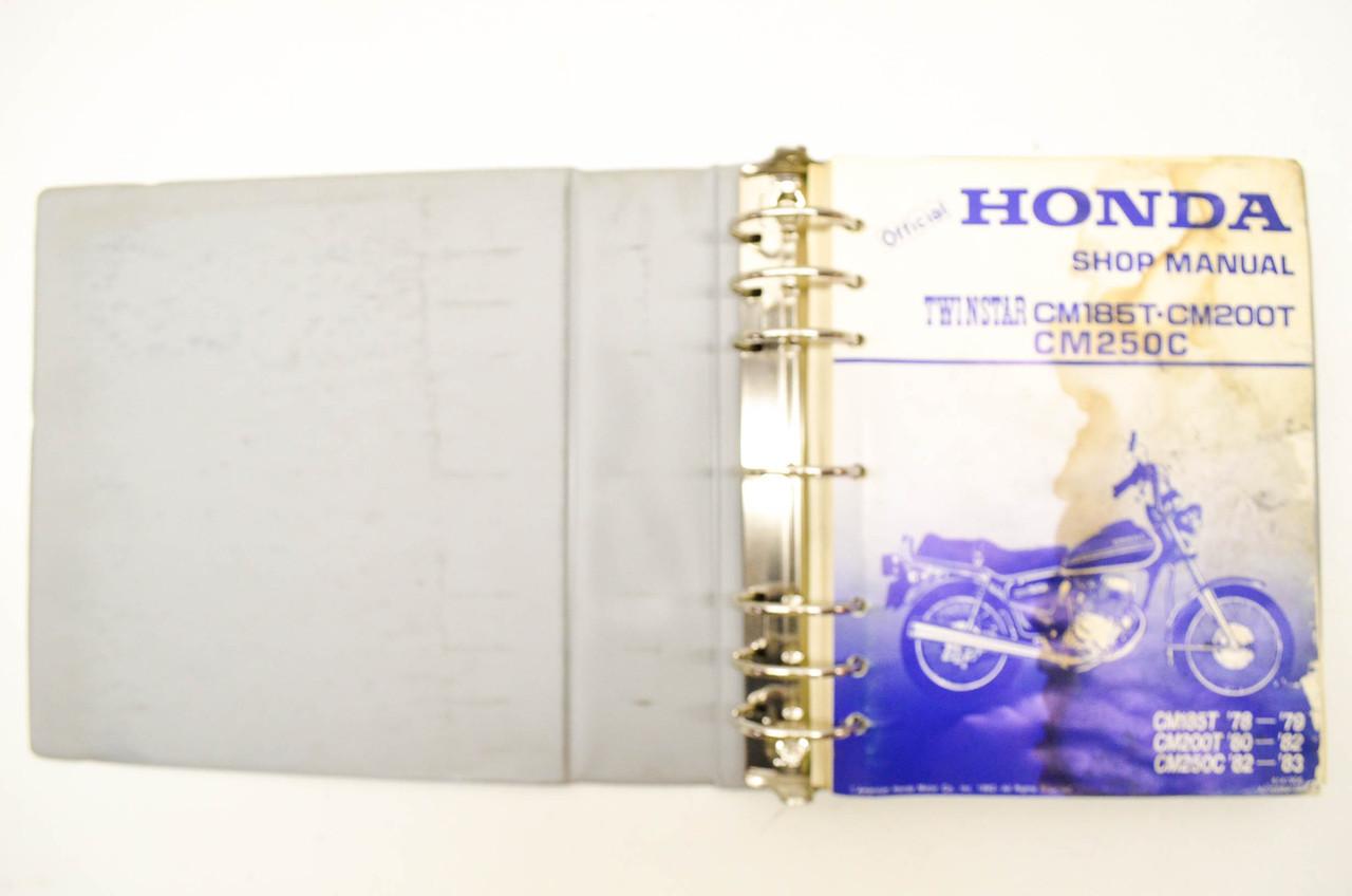 Honda Shop Manual Twinstar CM185T/CM200T/CM250C CM185T 78-79, CM200T 80