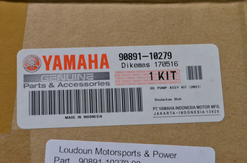 NOS Yamaha OEM Oil Pump Assembly Kit 90891-10279