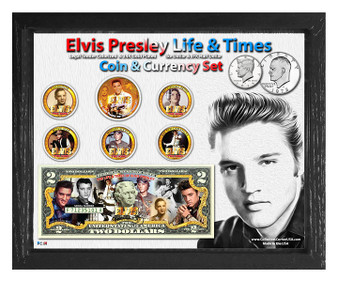 "Elvis Life & Times Colorized Coin & Currency Set in 8"" x 10"" Frame - Landscape"