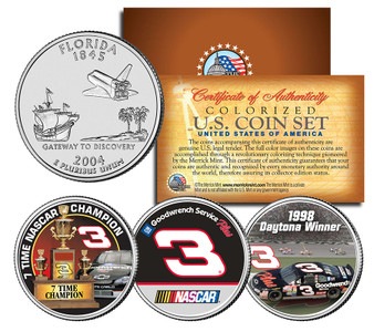 Dale Earnhardt 7-Time Champ Florida 3 Coin Set