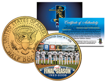 2008 Yankees Final Season Opening Day JFK Half Dollar