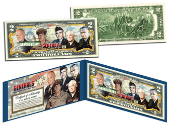 5-Star Generals Colorized Commemorative $2 Bill
