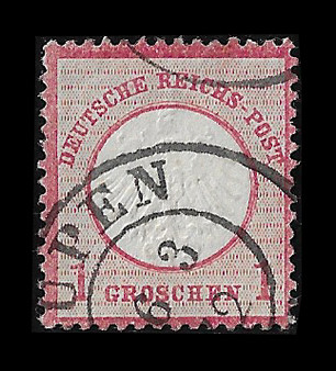 1872 #4 Small Shield 1 Groschen Cancelled