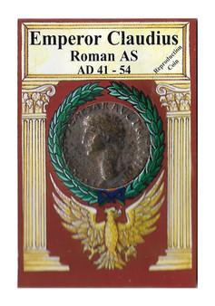 Emperor Claudius 41-54 AD Roman AS Replica Coin