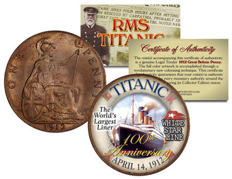RMS Titanic 100th Anniversary 1912 UK Penny