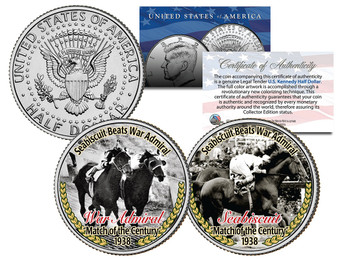 """Sea Biscuit Beats War Admiral"" Match of the Century Race 2 Coin Set"