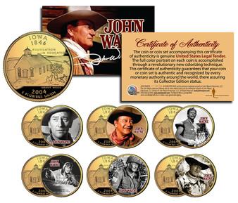 John Wayne Movies Colorized Iowa 24K Gold Plated 6-Coin Set 1