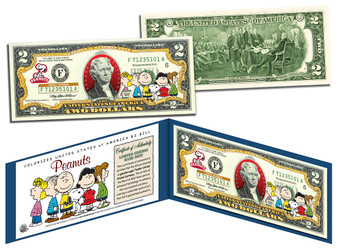 Charlie Brown & Gang Peanuts Commemorative $2 Bill
