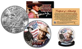 John Wayne Americana Commemorative Colorized Eisenhower Dollar