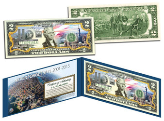 World Trade Center 14th Anniversary Colorized Commemorative $2 Bill