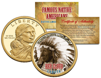 Colorized Sacagawea Dollar Famous Native Americans Coins