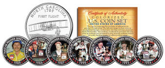 Dale Earnhardt 7-Time Champ 7 Coin Set