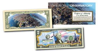 One World Observatory Colorized Commemorative $2 Bill