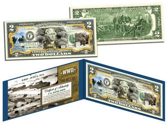 D-Day Normandy Landings Commemorative Colorized $2 Bill