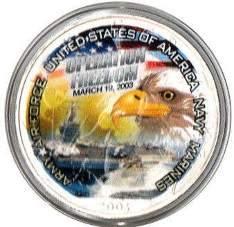 Operation Freedom Eagle Commemorative Silver Eagle in Case