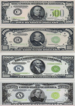 High Currency Denomination Bookmark Set