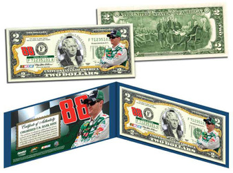 Dale Earnhardt Jr. #88 Commemorative Colorized $2 Bill