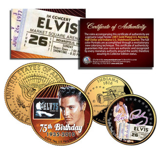 75th Birthday of Elvis Presley - 2 Coin Set