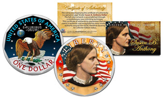 Colorized Susan B. Anthony $1 Coin
