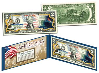 "Titanic ""Americana Series"" Commemorative Colorized $2 Bill"