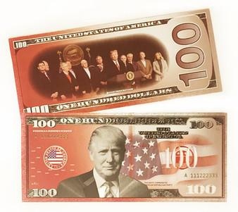 Trump $100 Red Metallic Novelty Bill
