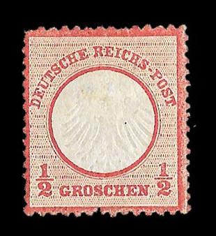 1872 #3 Small Shield 1/2 Groschen MH