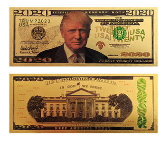 1st Couple Donald Trump 2020 24K Gold Plated $2020 Novelty Bill