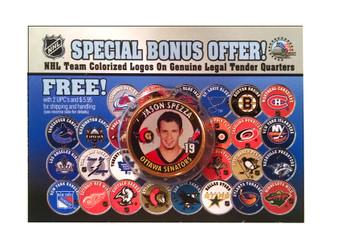 Jason Spezza Ottawa Senators Colorized Quarter