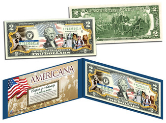 Wizard Of Oz Americana Series Colorized $2 Bill