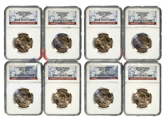 2009 NGC MS67 Presidential Dollar 8 Coin P & D Satin Set