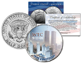 2004 World Trade Center 9/11 3rd Anniversary JFK Half Dollar
