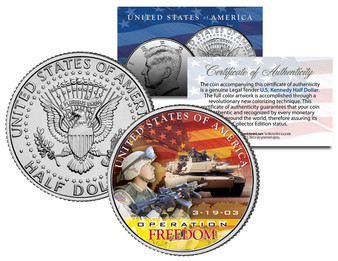 Iraq War Operation Freedom JFK Half Dollar