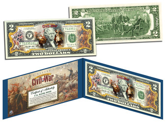 Battle Of New Orleans Commemorative Colorized $2 Bill