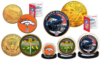 50th Anniversary Super Bowl Denver 3 Coin Set