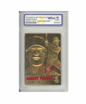 Albert Pujols 2003 Signature Series 23K Gold Sculptured Card Graded Gem Mint 10