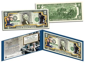 John F. Kennedy 50th Assassination Commemorative Colorized $2 Bill