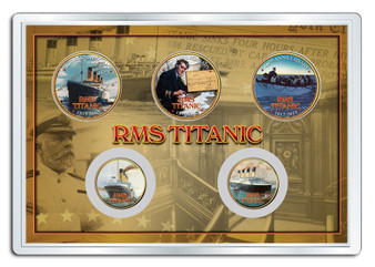 RMS Titanic Rescue Colorized 5 Coin Set