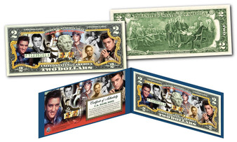 Elvis Presley Life & Times Commemorative Colorized $2 Bill