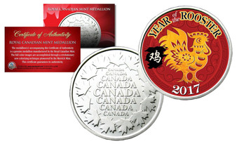 2017 Year Of The Rooster Chinese New Year Royal Canadian Mint Medallion