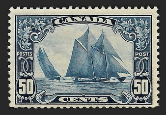 "Canada 1929 ""Blue Nose"" 50 Cent Stamp #158 MLH"